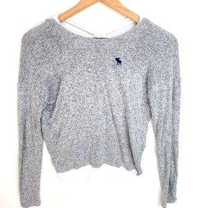 Abercrombie kids Gray & White layered shirt, 11/12